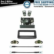 Rear Tailgate Hardware Cable Handle Bezel Hinge Kit Set 10pc For Chevy Gmc Ck