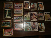 Lot Of 18 Vintage 1957 Topps Baseball Cards In Excellent Condition