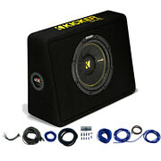 Kicker 44tcwc104 10 Compc Loaded Subwoofer Enclosure And Car Audio Install Kit