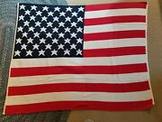 Stars And Stripes Blanket Throw 4' X 5' 48 X 60 Double Layer Knit Us Flag New