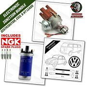 Vw Beetle And Camper Svda Distributor Ht Leads And Genuine Bosch Coil And Ngk Plugs