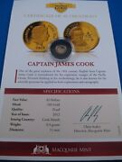 2013 5 Cook Islands Zeppelin Airship The Smallest Gold Coin. Macquarie Mint
