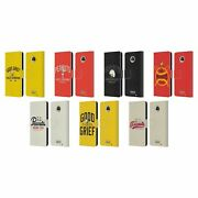 Official Peanuts Varsity Sports Leather Book Case For Motorola Phones