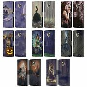 Official Selina Fenech Gothic Leather Book Wallet Case For Motorola Phones