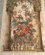 Sale 74andrdquo X 54andrdquo Pergola Floral Tapestry Wall Hanging Art From Belgium