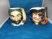 Vintage Made In Japan Pirate Mugs Cup Toby Corn Beard Past Time Gold Thief Ship