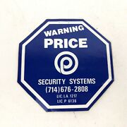 Price Security System Warning Security Stickers Sign 4 X 4 Discontinued