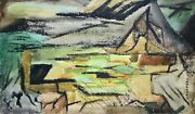 Raymond Trameau - Painting Original - Watercolour - Composition Abstract 6