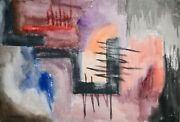 Raymond Trameau - Painting Original - Watercolour - Composition Abstract 12