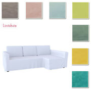 Custom Made Cover Fits Ikea Manstad Corner Sofa Bed Sleeper Cover Loose Fit