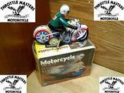 Metal Tin Body Wind-up Motorcycle Collectors Toy For Vintage Series Collector