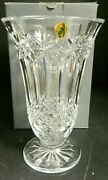 Waterford Crystal Balmoral 10 Vase 2076006300 W In Original Box Excellent Cond