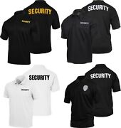 Security Polo Shirt Moisture Wicking Double Sided Guard Officer Golf Top