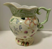 Tracy Porter Evelyn 3 1/2 Quart Pitcher 9 3/8 Tall Evelyn