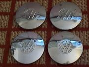 1974-1977 Vw Dasher And 1975-1984 Vw Rabbit    Set Of Four 6 Oem Hubcaps