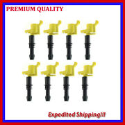 8pcs Ignition Coils Ufd255y For 2005 2006 2007 2008 Ford Expedition 5.4l V8