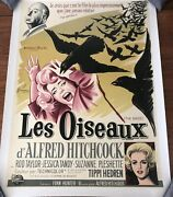 The Birds 1963 Original Rare French Movie Poster Alfred Hitchcock Tippi Hedren