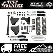 Tuff Country 5 Coil Spring Lift Shocks 05-07 Ford F250 F350 4wd 24974kn