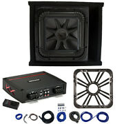 Kicker L7s12 Sub Ported Box With 44kxa8001 Amp, Charcoal Led Grill And Install Kit