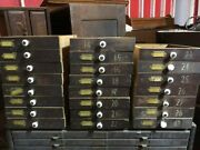Vintage Hardware Cabinet Drawers With Porcelain Knobs 19 Price Reduced,