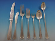 Old Brocade By Towle Sterling Silver Flatware Set For 8 Service 57 Pieces