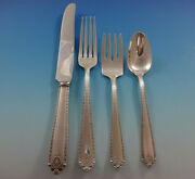 Lady Hilton By Westmorland Sterling Silver Flatware Service For 8 Set 34 Pieces