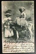 1903 Kingston Jamaica Rppc Real Picture Postcard Cover To Germany Market Women