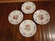 """Lot Of 4 Meissen Floral Germany Mitterteich Fine China 6 3/4"""" Bread Plates"""