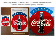 Rare Coca-cola 25 Decals 1990and039s Siempre Authentic Decals/signs 22x 17. 25qty