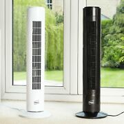Neo 29 Inch Air Cooling Free Standing Tower Fan 3 Speed Oscillating Quiet