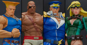 Sdcc 2019 Storm Collectibles Street Fighter Set Of 4 Action Figures And Free Gift
