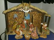 Fontanini Nativity Manger/stable Made Of Marble Fontanini Figures Italy-heirloom