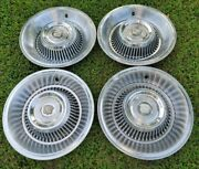 1963 1964 Cadillac Hubcaps Wheel Covers Set Of 4