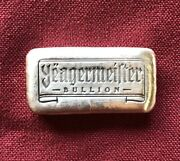 1oz Hand Poured 999 Silver Bullion Bar Yeagermeister Bullion By Yps