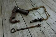 Antique Padlock With Key, Unique, Rare, Collector, Medieval Time, Handmade 25-01