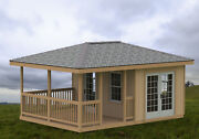 14' X 20' Partially Enclosed Gazebo/man Cave/she Shed Hip Roof Building Plans