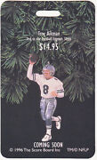 Hallmark Ornament Special Issue Display Card Nfl 1996 Troy Aikman Coming Soon