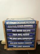 Pre-owned The Best Of Old Time Radio Greatest Moments 6 Cassettes, Wood Case