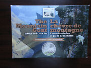 2015 Canada 1 Oz Fine Silver Coin And Stamp Set Baby Animals Goat