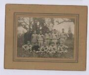 Early 1900and039s Waldwick New Jersey Baseball Team In Full Uniform Cabinet Photo