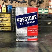 Vintage Prestone Anti-freeze Can Metal Gas And Oil Can Automobilia Advertising Can