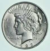 1 Au 1 1923 Peace Silver Dollars Dripping W Luster Almost Unc 90 Bulk And Save