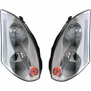 New Set Of 2 Lh And Rh Side Hid Headlamp Assembly Fits 03-2005 Infiniti G35 Coupe