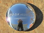 1940 Ford Deluxe Set Of 4 Stainless Hubcaps - Brand New 8 1/8 Lip Diameter