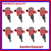 8pc High Energ Ignition Coil Ufd267r For Ford F-350 Super Duty 5.4l V8 2001 2002