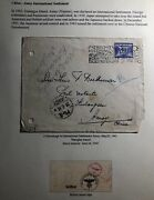 1941 The Hague Netherlands Censored Cover To International Settlement Amoy China