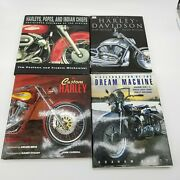 Harley Davidson Motorcycle Hardcover Coffee Table Books Set Of 4 Used