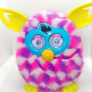 Furby Boom Pink Purple White Spotted Pattern Interactive 2012 Hasbro Working