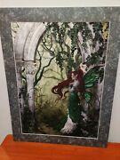 Nene Thomas Direwood Print Limited Edition Signed 1093/2000 Green Arch Red Hair