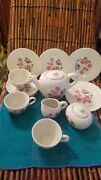 Vintage Childs Tea Set Made In Japan Flowers With Butterflies